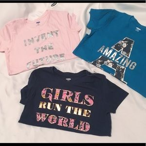 NWT | Lot of 3 Old Navy Girls Graphic Tees | L